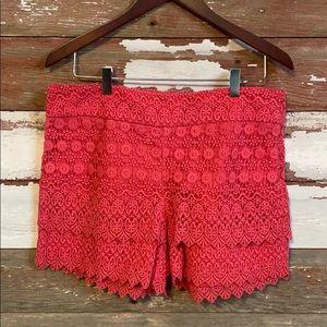 The Riviera Short! Loft Crochet shorts! Size 10.
